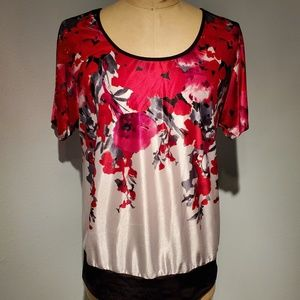 Maurices Low Back Floral Top Size 1